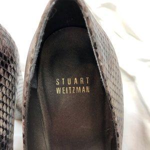 Stuart Weitzman Shoes - Stuart Weitzman Snakeskin Platform Block Heel